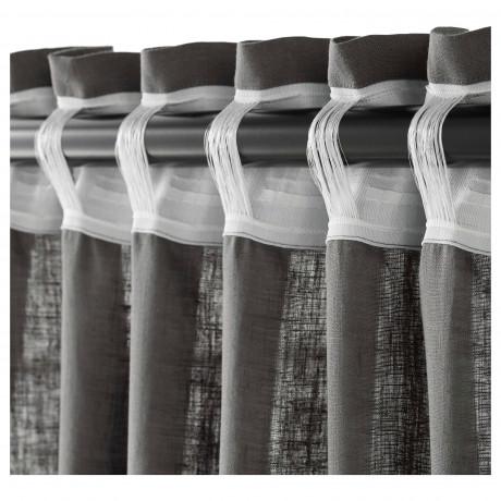 Гардины, 1 пара АЙНА темно-серый фото 2