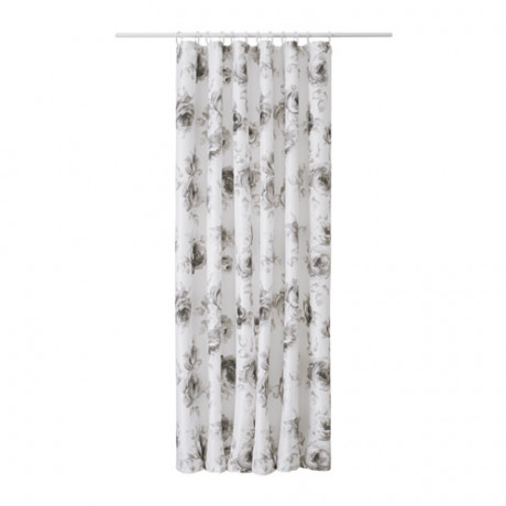 Штора для ванной АГГЕРСУНД серый, белый фото 0